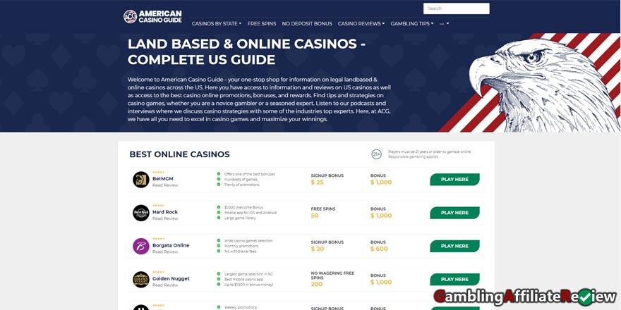 american casino guide com desktop view