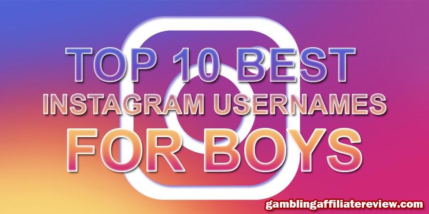 best instagram names for boys