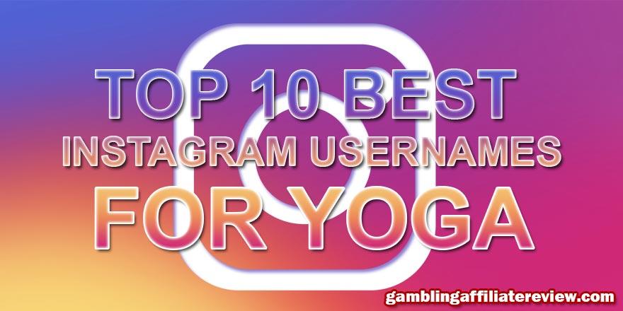 10 best instagram names for yoga