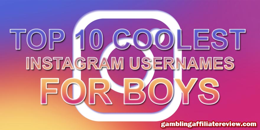 coolest instagram names for boys