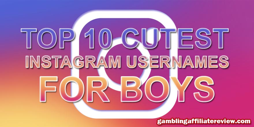 cutest instagram names for boys