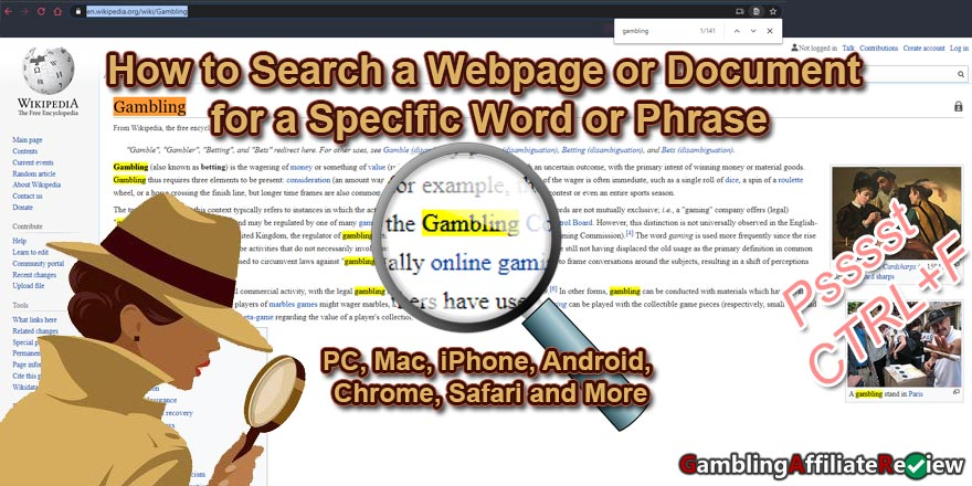 how to search for words on a page