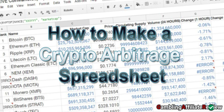 How-to-Make-a-Crypto-Arbitrage-Spreadsheet