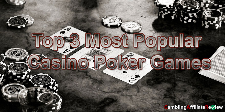 popular card games at the casino banner
